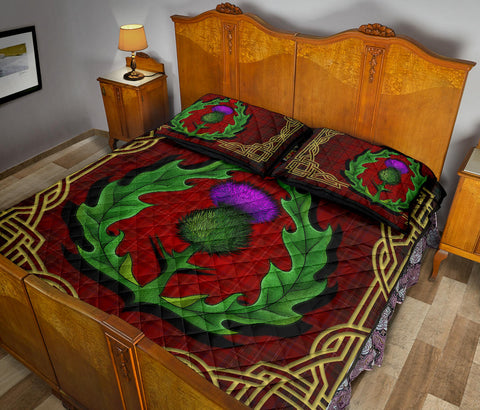 Scotland Quilt Bed Set - Thistle Stewart Royal Modern Claddagh Ring A24