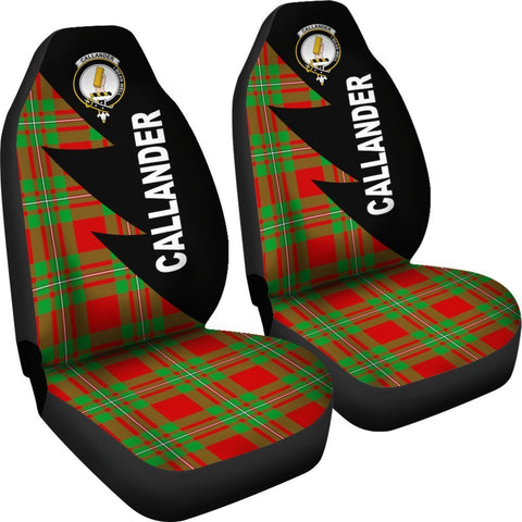 Tartan Car Seat Cover, Callander Clans Flash Style - Scottish Car Seat Cover A9