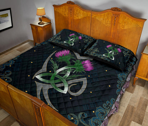 Image of Scotland Quilt Bed Set - Scottish Tribal Thistle Celtic A24
