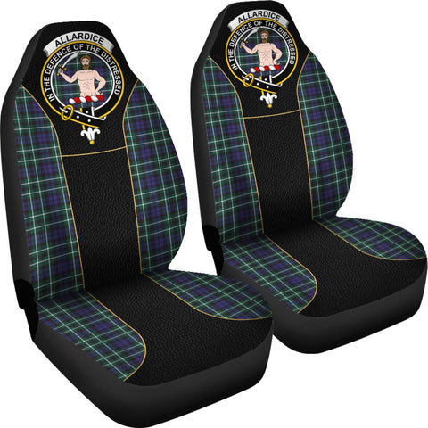 Tartan Car Seat Cover, Allardice Clan Badge Special Version Scottish Car Seat Cover A9