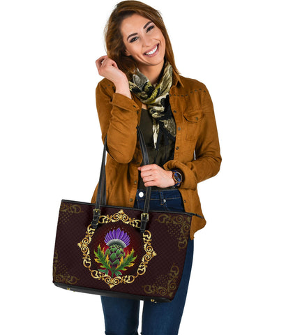 Scotland Leather Tote - Thistle Special Gold A24