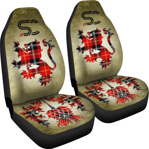 Tartan Car Seat Cover, Marjoribanks Lion and Thistle Special Style Scottish Car Seat Cover A9