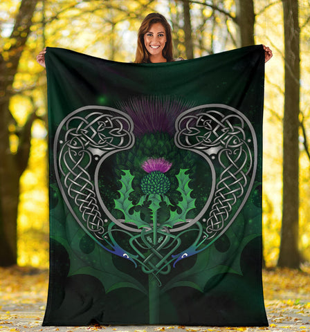 Scotland Premium Blanket - Celtic Thistle Green | Home Set