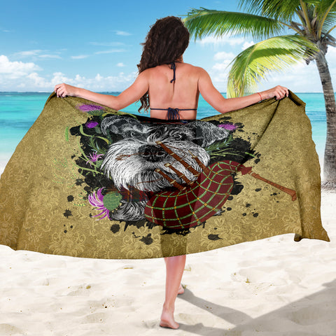 Scotland Sarong - Scottish Terrier And Thistle Vintage | Love The World