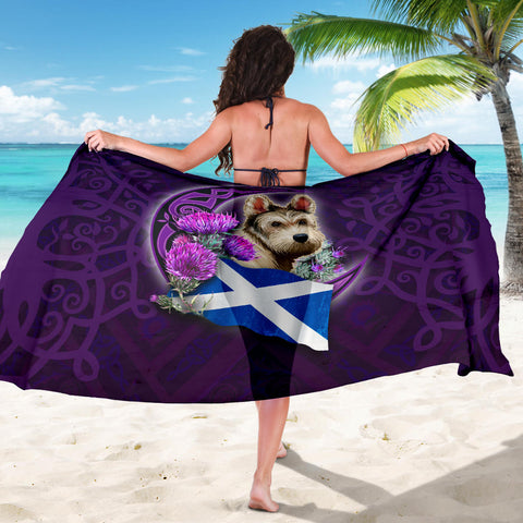 Scotland Sarong Celtic Tree Of Life - Scottish Terrier And Thistle Moon Celtic