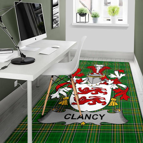 Clancy or McClancy Ireland Area Rug Irish National Tartan Irish Family Crest | Over 1400 Crests | Home Set | Home Decor