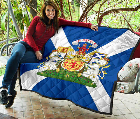 Scotland Flag Premium Quilt | Blanket | Home Decor