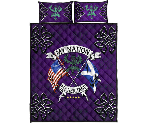 Scotland Quilt Bed Set - My Nation My Heritage Thistle | Love Scotland