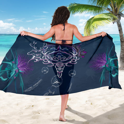 Scottish Thistle Sarong - Scottish Red Deer Celtic Dream Catcher A18