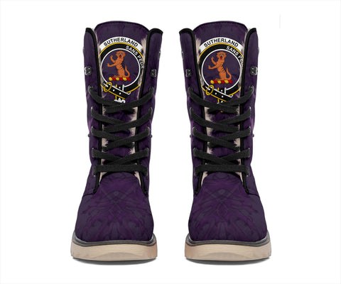 Sutherland I Crest Scottish Thistle Scotland Polar Boots Purple | Over 300 Clans