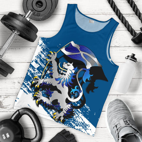Scottish Rampant Lion Holding The Flag Tank Top