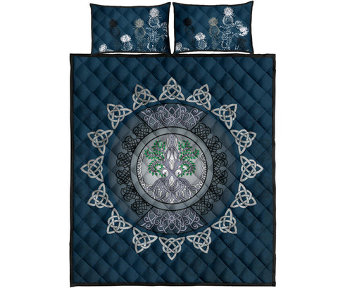 Scotland Quilt Bed Set - Celtic Tree Thistle | Love Scotland