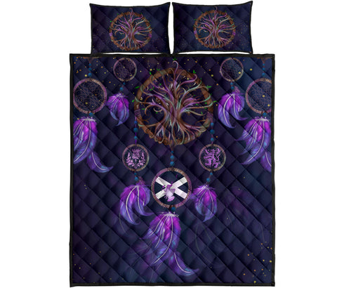 Image of Scotland Quilt Bed Set - Dream Catcher Celtic Tree Of Life | Love Scotland