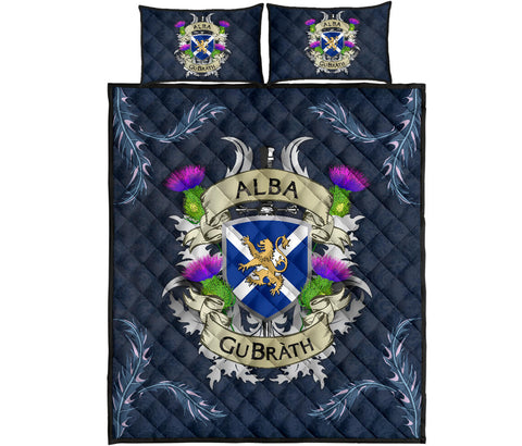 Scotland Quilt Bed Set - Scotland Forever Flag Lion Thistle | Love Scotland