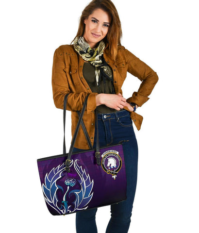 Horsburgh Scotland Leather Tote Bag / Leather Tote Bag Scottish Clan A10