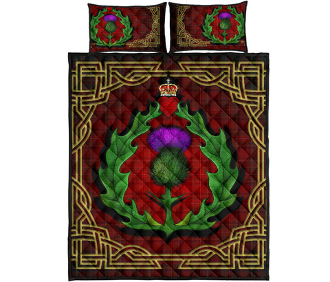 Image of Scotland Quilt Bed Set - Thistle Stewart Royal Modern Claddagh Ring | Love Scotland