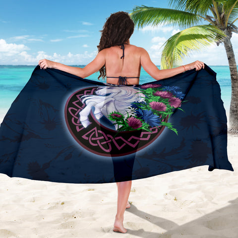Scotland Sarong Unique - Unicorn Thistle And Moon Celtic A18