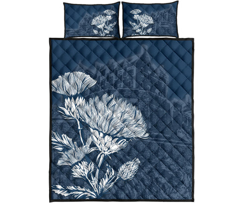 Scotland Quilt Bed Set - Edinburgh Thistle Pattern A24