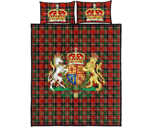 Scotland Quilt Bed Set - Scottish Royal Stewart | Love Scotland
