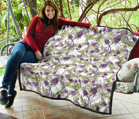 Image of Scottish Thistle 15th Pattern Premium Quilt