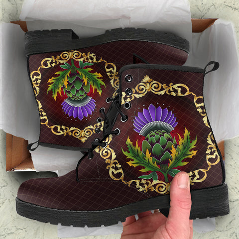 Image of Scotland Leather Boots - Thistle Special Gold | Love Scotland