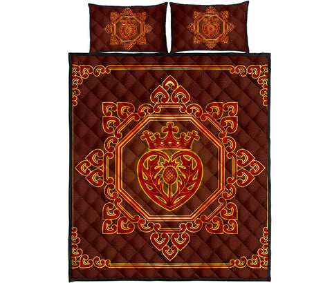 Image of Scotland Quilt Bed Set - Thistle | Love Scotland