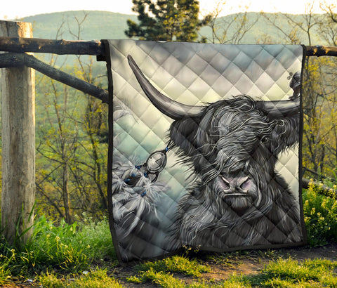 Scotland Premium Quilt - Highland Cow