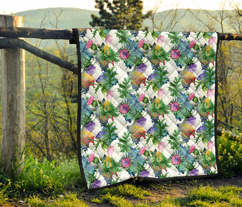 Scotland Premium Quilt - Scottish Thistle 16th Pattern