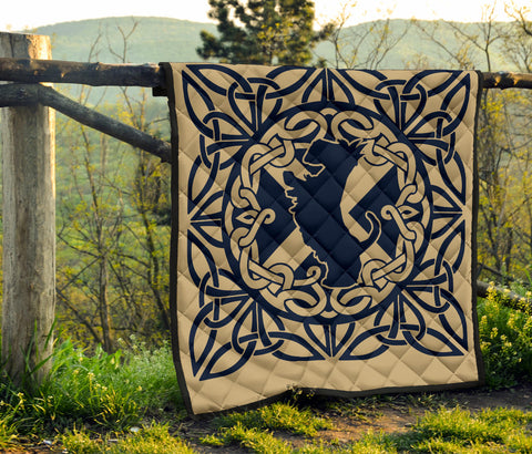Scottish Terrier Celtic Premium Quilt | Blanket | Home Decor