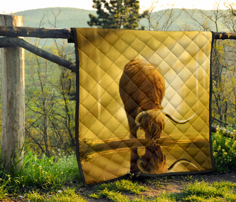 Scottish Highland Cow Premium Quilt | Blanket | Home Decor