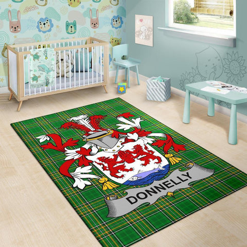 Donnelly or O'Donnelly Ireland Area Rug Irish National Tartan Irish Family Crest | Over 1400 Crests | Home Set | Home Decor