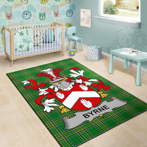 Byrne or O'Byrne Ireland Area Rug Irish National Tartan Irish Family Crest | Over 1400 Crests | Home Set | Home Decor