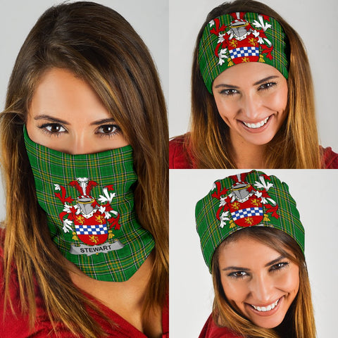 Stewart Ireland Bandana 3-Pack - Irish National Tartan Neck Gaiter A7