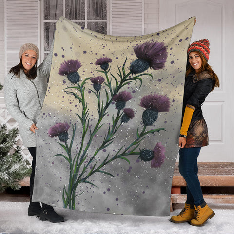 Scotland Premium Blanket  - Scottish Thistle Vintage A24