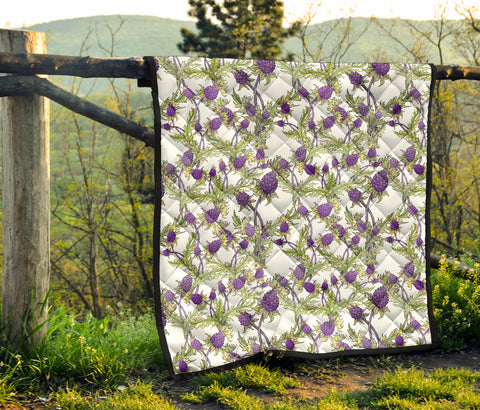 Scotland Premium Quilt - Scottish Thistle 15th Pattern