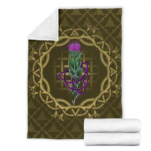 Scotland Premium Blanket - Thistle Celtic Knot Circle Frame A24