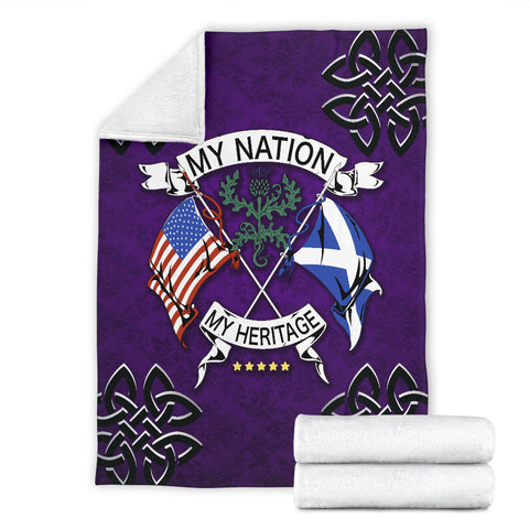 Scotland Premium Blanket - My Nation My Heritage Thistle A24