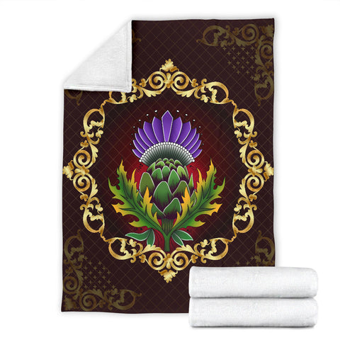 Image of Scotland Premium Blanket - Thistle Special Gold | Love Scotland