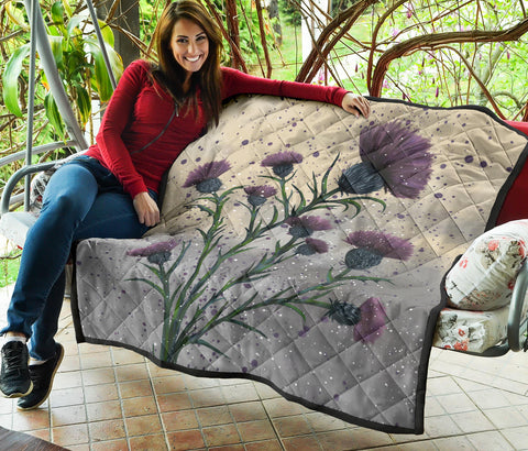 Image of Scotland Premium Quilt - Scottish Thistle Vintage A24