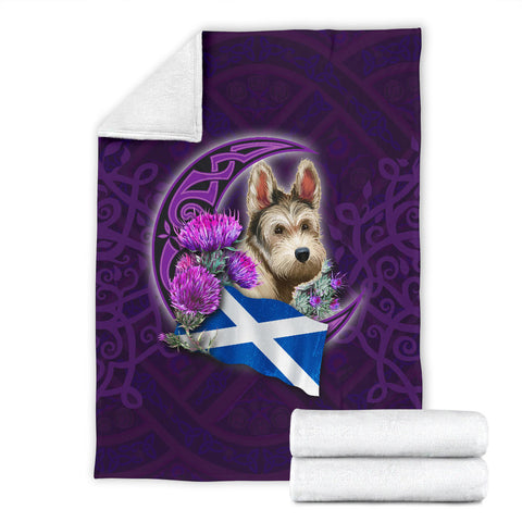 Scotland Premium Blanket Celtic Tree Of Life - Scottish Terrier And Thistle Moon Celtic
