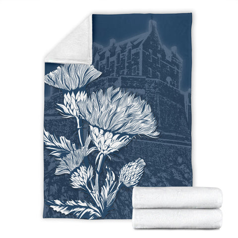 Scotland Premium Blanket - Edinburgh Thistle A24