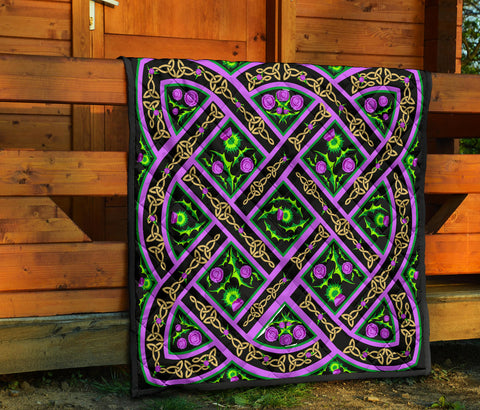 Celtic Thistle Premium Quilt | Blanket | Home Decor
