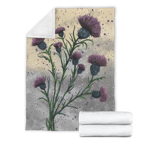 Image of Scotland Premium Blanket - Scottish Thistle Vintage | Love Scotland