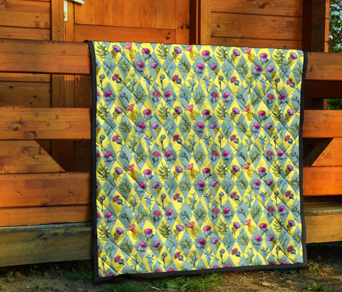 Image of Scottish Thistle 10th Pattern Premium Quilt