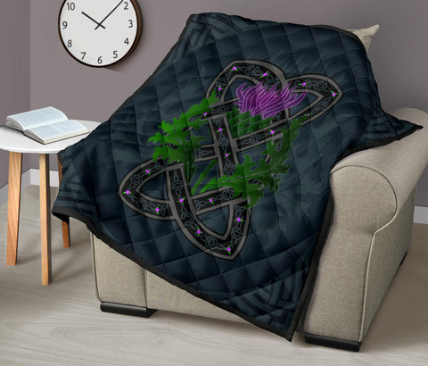 Image of Celtic Myth Thistle Premium Quilt | Love Scotland