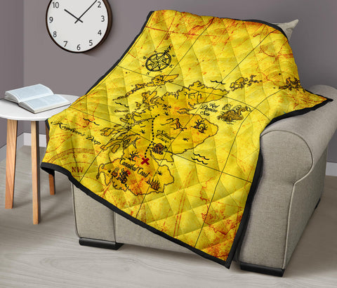 Scotland Premium Quilt - Scotland Treasure Map