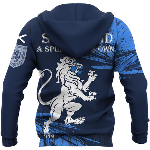 Scotland Hoodie,  A Spirit Of Its Own Lion Rampant Pullover Hoodie