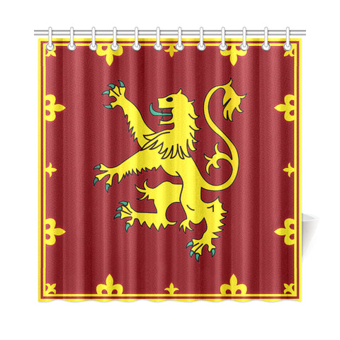 Scotland Shower Curtain - Yellow Lion