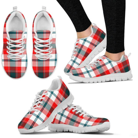 Glasgow Tartan Sneakers - Bn 01 Womens Sneakers White / Us5 (Eu35)