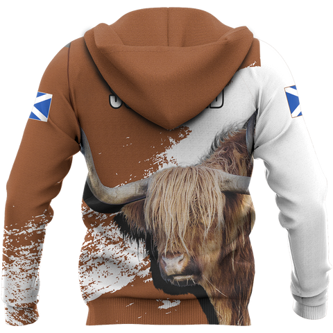 Scottish Highland Cow Hoodie | Men & Women | Clothing